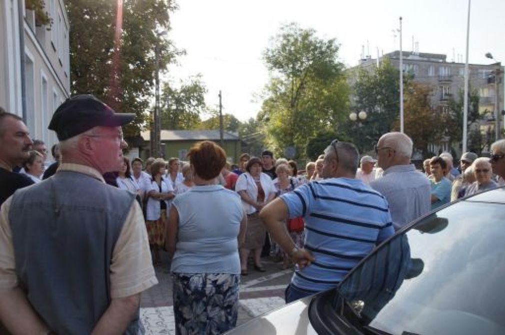 Demonstracja personelu grójeckiego szpitala